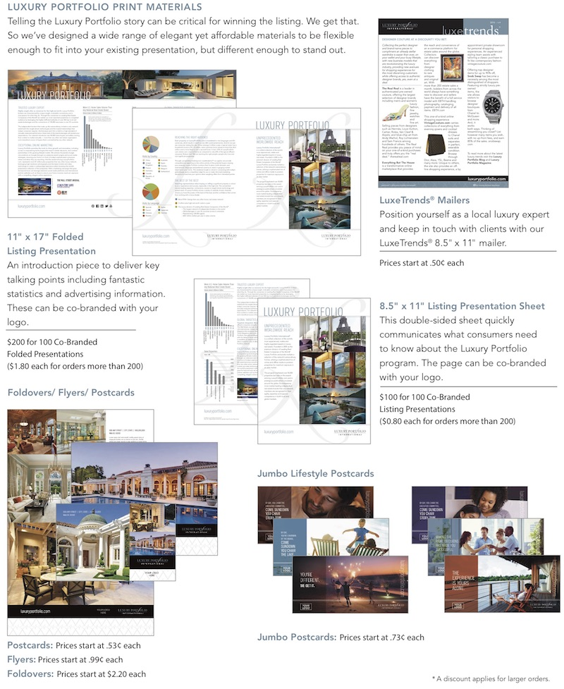 Telling the Luxury Portfolio Story With Marketing Materials Offered