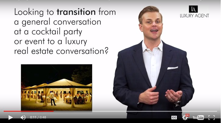 Cocktail Conversation Luxury Real Estate. | Luxury Agent